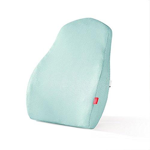 uus Sommer Auto Sitzkissen Polyethylen Harz Füllung mit abnehmbare 3D Breathable Mesh-like Abdeckung Lendenwirbel Auto Sitz Rücken Kissen Taille Kissen ( Farbe : Blau ) -