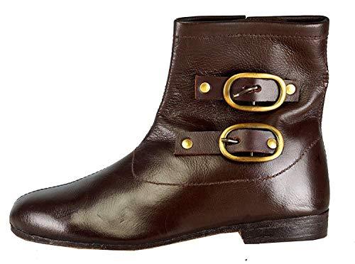 Epopée médiévale Mittelalterliche Schuhe Braune Farbe Renaissance Ringmaster Cosplay Cowboy Halloween