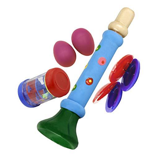 Artibetter Kinderspielzeug, Musik, Lernen, Eierrührer, Regenset, Trompete, Kastagnetten, für Kinder