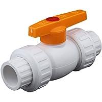 BESTOMZ Válvula de bola de PVC IPS Schedule 40 Válvula de bola de riego ambiental PE PPR de alta resistencia a la presión