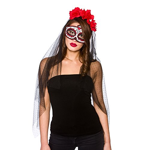 Ideen Outfit Masquerade Party (Day Of The Dead Deluxe Mask &)