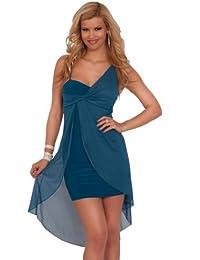 L'amoureux a capitonné la longueur de genou de courroie de deux styles même la robe de cocktail élégante
