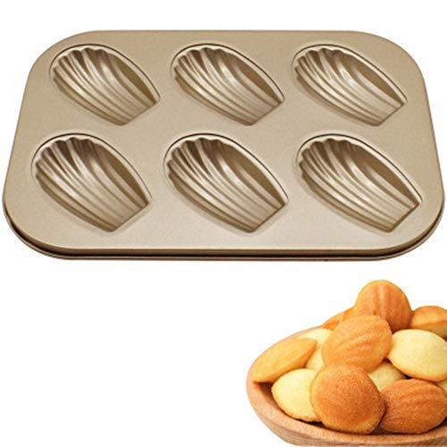 Queta-Backform zum Backen DIY Gebäckform antihaftbeschichtet 6 sogar Kuchen Backform Backofen Backform Mikrowelle Formen Shell Baking Tray