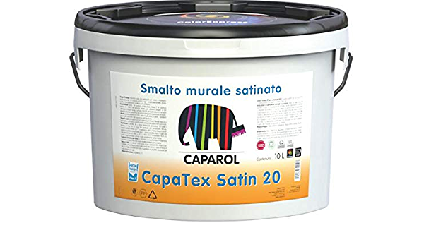 Caparol Capatex Satin 20 Idrosmalto Murale Satinato Per Interni Base 1 2 5lt Amazon It Fai Da Te