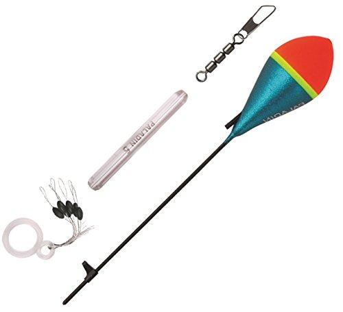 Paladin Forellen Set - Bomb Schlepp-Pose + Dreifachwirbel + Glasgewicht + Stopper, Angelset zum Forellenangeln am Forellensee