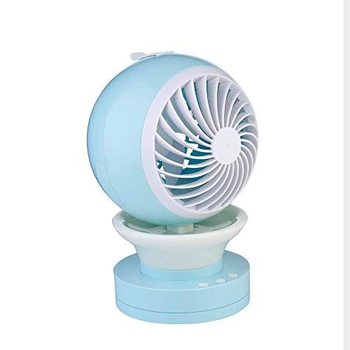 Divgdovg Tragbarer USB Ventilator,Mini Luftkühler,Mobile Klimageräte Air Cooler,Luftbefeuchter und Luftreiniger,Tragbare Klimaanlage Luftkühler für Büro,7 Farben LED Nachtlicht,Blau