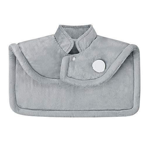 Medisana HP 622 Wärmecape elektrisch, Wärmekissen für Schulter und Nacken, Wärmeponcho mit 6 Temperaturstufen, Überhitzungsschutz, Abschaltautomatik, waschbar, Grau