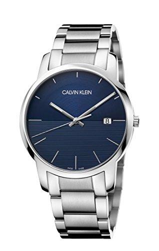 Calvin Klein Reloj Analógico para Hombre de Cuarzo con Correa en Acero Inoxidable K2G2G14Q