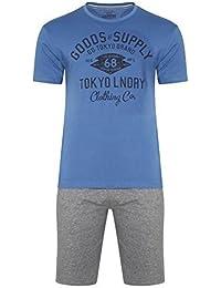 Hommes Tokyo Laundry Compton OU Duarte Neuf Vêtement De Détente Ensemble Haut & Short