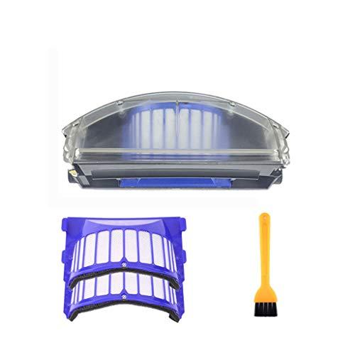 ToDIDAF Staubsauger-Zubehör, Ersatzteile für Kehrroboter, 1 Stück Staubbehälter + 1 Stück Filter + 1 Stück Reinigungsbürste für Roomba 500/600 Staubsauger