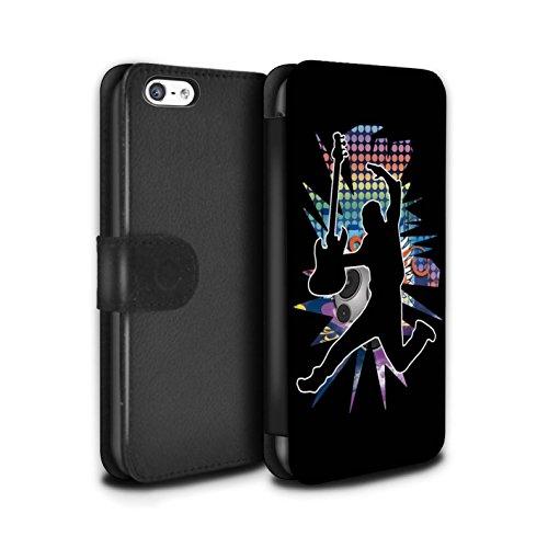 Stuff4 Coque/Etui/Housse Cuir PU Case/Cover pour Apple iPhone 5C / Pack (24 Designs) Design / Rock Star Pose Collection Saut Noir