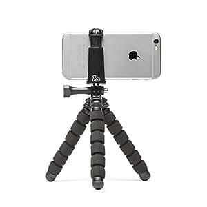 Trepied Flexible Gorilla pour Smartphone Pixter [Startup Française] - Pixter® Compatible iPhone 7plus/7 / 6s Plus / 6 / 5s, Samsung Galaxy S8 / S7, tout smartphones