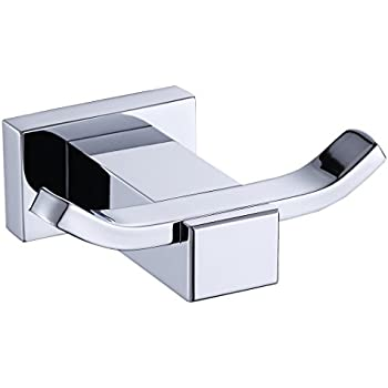 Modern Solid Brass Chrome Finish Bathroom Robe And Towel Hooks Wall Mount  Bathroom Accessory A4472
