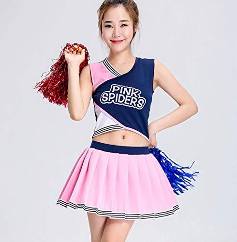Kinder Kostüm Aerobic - SMACO Cheerleader-Kostüme für Kinder Damenanzüge für Cheerleader-Aerobic-Wettkampfkostüme,120CM