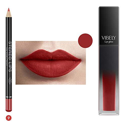 IFOUNDYOU Color Sensational Lipstick - Lippenstift-Neue LippenwäSche-MattflüSsiger Lippenstift-Wasserdichtes Lipgloss-Make-Up 12 TöNe
