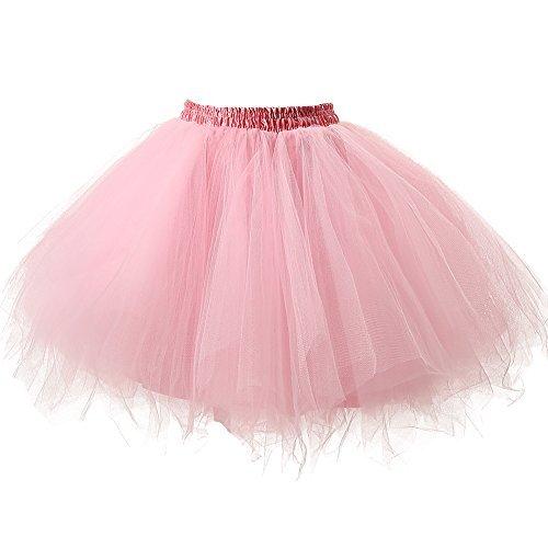 Mit Kostüm Fee Leggings - Honeystore Damen's Tutu Unterkleid Rock Abschlussball Abend Gelegenheit Zubehör Rosa