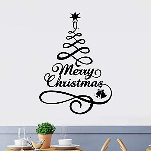 XINAINI Weihnachtssticker Merry Christmas Alphabet Aufkleber - 3D Weihnachtsmann Weihnachtsbaum Weihnachten DIY Geschenke Wandaufkleber Weihnachtsdeko Glasfenster Fenster Hauptdekoration