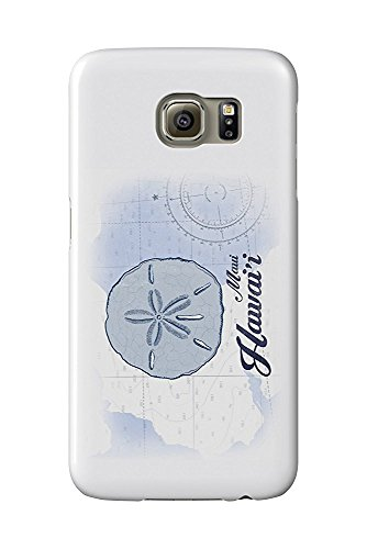 Maui, Hawaii - Sand Dollar - Blue - Coastal Icon (Galaxy S6 Cell Phone Case, Slim Barely There)