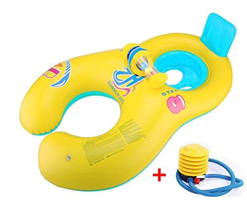 Preisvergleich Produktbild Vercrown Aufblasbare Baby Pool Schwimmer Schwimmen Ring Mutter und Baby Sitzboot Yacht mit Luftpumpe Safty für Eltern und Kleinkind Kinder ins Wasser Spielen