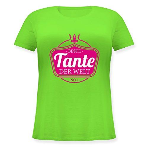Shirtracer Schwester & Tante - Beste Tante der Welt - Lockeres Damen-Shirt in Großen Größen mit Rundhalsausschnitt Hellgrün