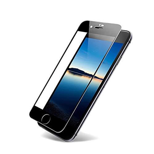 HULI Full Screen Cover iPhone 6 Plus / 6s Plus in Schwarz - Splitterfeste und passgenaue 3D Panzerglas Schutzfolie - Displayschutz für iPhone 6 Plus und iPhone 6s Plus