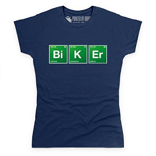 Periodic Table Biker T-Shirt, Damen Dunkelblau