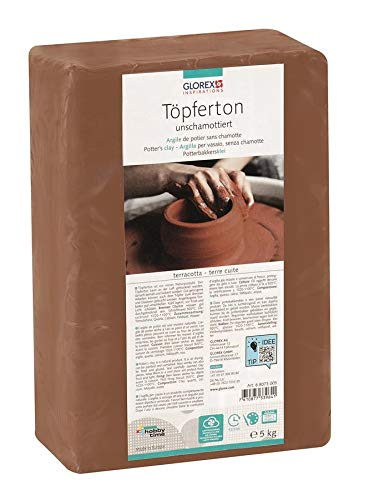 designer fashion a0a17 b2aa5 Glorex 68073005 Pottery Clay 5 kg Clay, Terracotta, ...