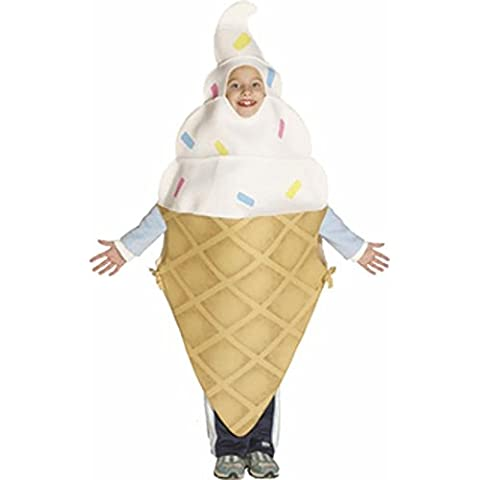 Child's Ice Cream Cone Funny Food Costume (Size: 8-10) by BOS