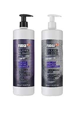 Fudge Clean Blonde Violet Toning Shampoo 1000ml & Conditioner 1000ml Duo Pack from FUDGE