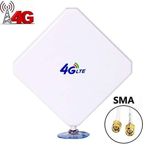 SMA 4G Hochleistungs LTE Antenne 35dBi Netzwerk Ethernet Verstärker-Antenne Omnidirektionale Antenne Signalverstärker Verstärker für Huawei B593/B880/E5172/E5175/E5186/B890 ZTE MF28G MF29T etc