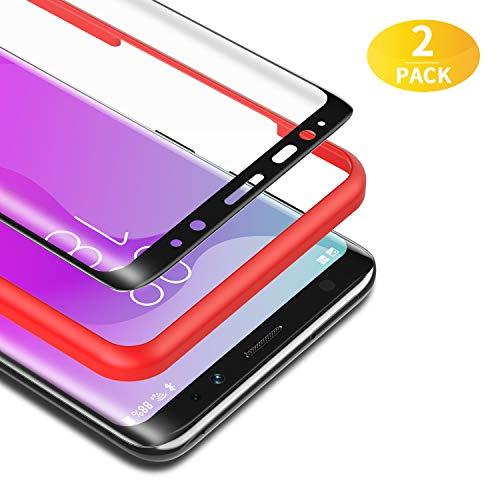BANNIO für Panzerglas für Samsung Galaxy S8,[2 Stück] 3D Panzerglasfolie Schutzfolie für Samsung Galaxy S8 mit Positionierhilfe,9H Härte,Anti Rayures,Blasenfrei,Anti-Kratzen,Schwarz