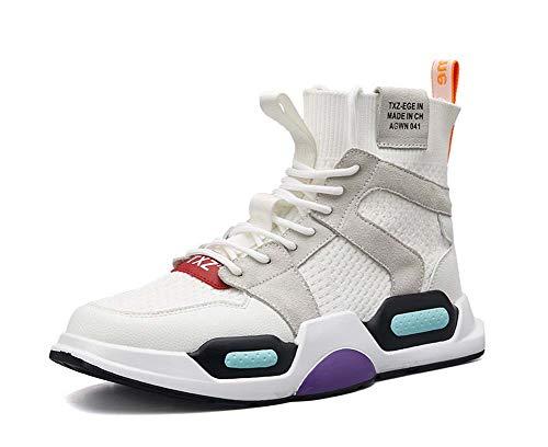 GLSHI Hommes Respirant Tricoter Baskets Nouveau Haut Haut Décontractée Absorption Choc Élastique Chaussettes Chaussures