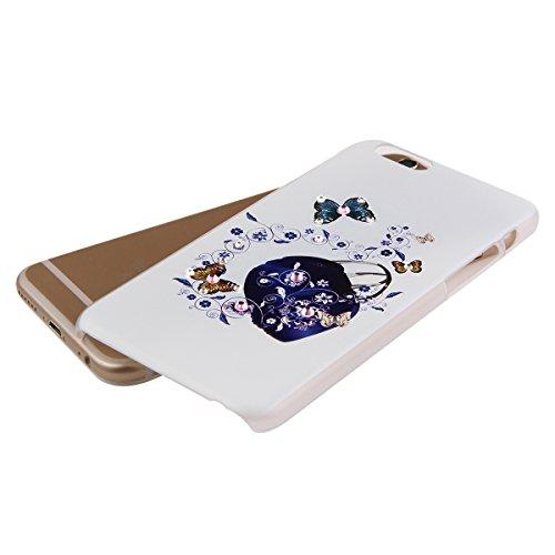 Ukayfe Ultra Slim Hard Plastica Custodia Protettiva Shell Case Cover per iphone 6, Scarpe col tacco alto Painted Intarsiato Lucido Diamante di Scintillio Assorbimento egli urti della Copertura del Res Borse