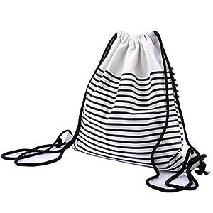 41yCP2Z3wGL. SS300  - Abaría - Mochila tela con cuerdas bolsas infantil mujer niña