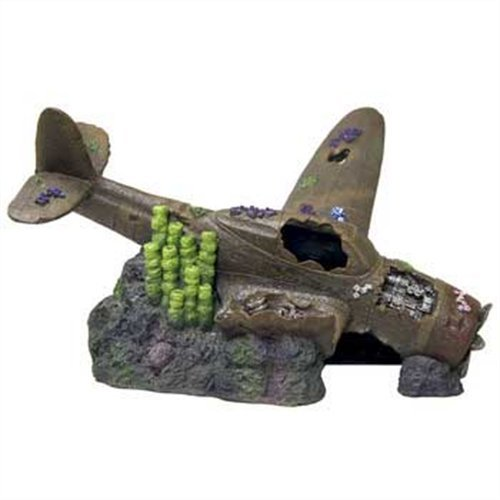 Blue Ribbon Pet Products Aquarium-Dekoration Exotic Environments Übergröße, versunkenes Flugzeug mit gebrochenen Flügeln, 56 cm