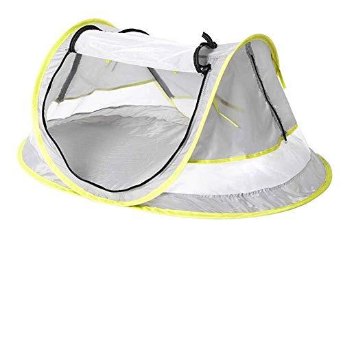 TYUIO Baby Reisezelt, tragbares Strandzelt UPF 50+ Sun Travel Pop Up Klappkrippen Zelt Moskitonetz Infant Beach Gear UV-Schutz mit 2 Pegs