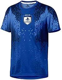 Sony Playstation-8-Bit Esports-Hombre Oficial Camiseta de Fútbol