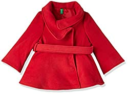 United Colors Of Benetton Girls Jacket (17A2DFI5Z9V0G219XL_Brick Red)
