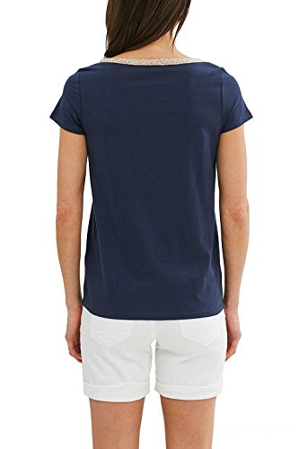 ESPRIT Damen T-Shirt 047ee1k003 Blau (Navy 400)
