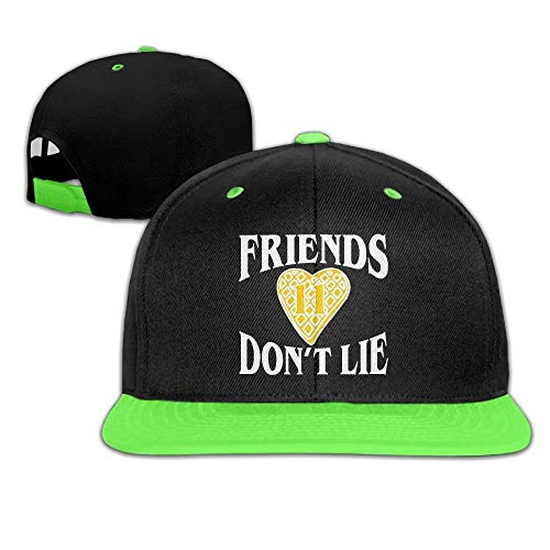 Imagen de zqhrs friends don't lie waffle heart 11.png  de béisbol ajustables rojo alternativa