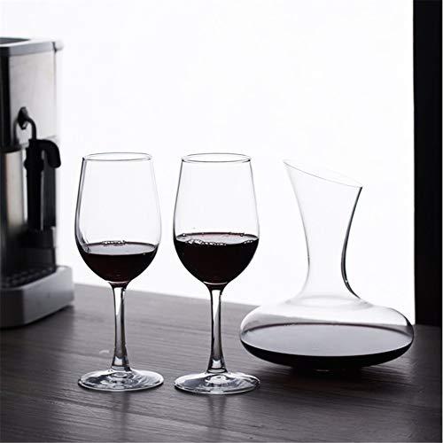 Set De Copas De Vino Tinto De Vidrio Rojo 1 Dispositivo