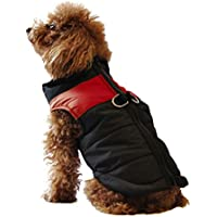 ubest CS4-UK-HD-BX-RED-L, ubest Dog Coat Waterproof Jacket With D-Ring Warm Padded Puffer Vest Red Large (Pet Supplies)