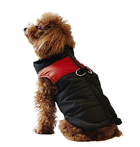 ubest Hundemantel Wasserdichte Winterjacke mit D-Ring Warm Regenmantel Gepolstert Puffer Weste, 10