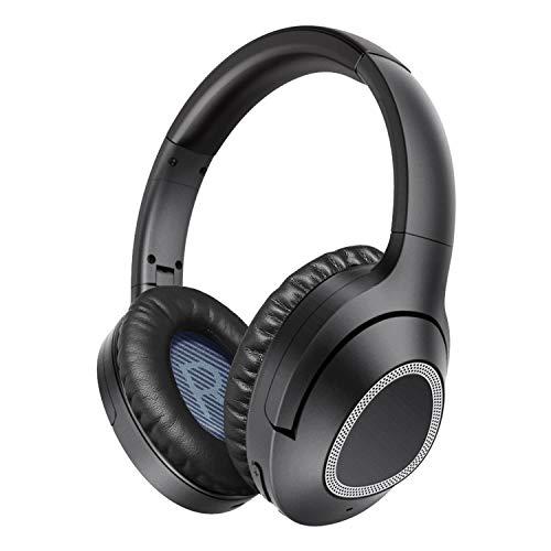 iDeaPLAY Active Noise Cancelling Kopfhörer, Bluetooth 4.2 Over-Ear kabellose Kopfhörer mit Apt-X und eingebautem Mikrofon, Wireless HiFi Stereo Headphone mit Geräuschreduzierung, 30 Stunden Spielzeit
