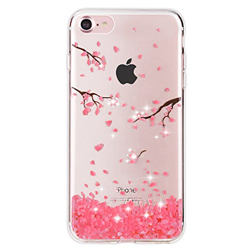 iPhone 7 Hülle,iPhone 7 Silikon Hülle Tasche Handyhülle,SainCat Flamingos Muster Ultra dünne Silikon Hülle Schutzhülle Durchsichtig Hadytasche Stoßfeste TPU Gel Case Bumper Weiche Crystal Kirstall Sil Diamant-Federschmuck
