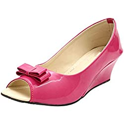 ROCKSY Women's Pink Peeptoes - 8 UK