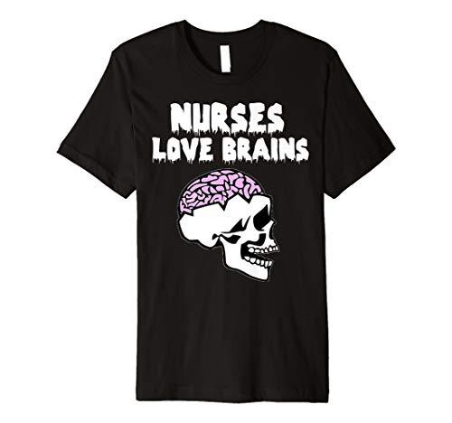 Krankenschwestern Love Brains Funny Halloween Shirt