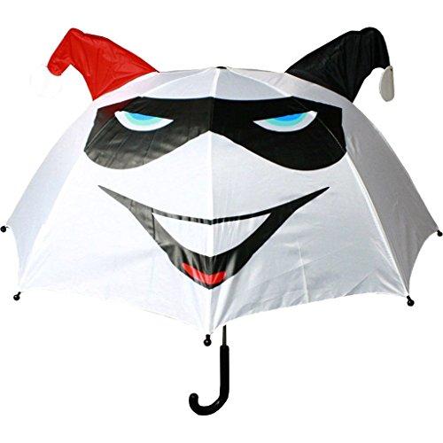 Offiziell lizenzierte DC Comics Harley Quinn White Pop-Up-Regenschirm