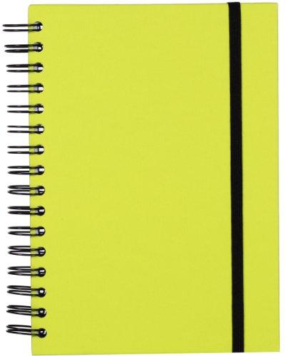 Rössler Papier 1875452321 - Taccuino S.O.H.O. Wire-O A5 con elastico, 160 pagine, dimensioni 21,8 x 15,5 x 2 cm, colore: Verde lime