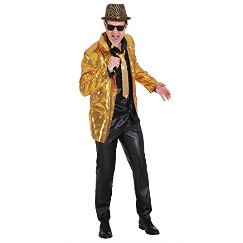 Show Jacket gold Paillettenjacke Glitzer Jacke Pailletten Showtime Showmaster Glitzerjacke Showjacket Glitzerjacke XL 56/58